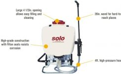 Solo Backpack Sprayer — 4-Gallon Capacity, 90 Psi, Model# 425 throughout Solo Backpack Sprayer Parts Diagram