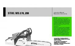 Stihl Ms 270 280 Chainsaw Owners Manual intended for Stihl Ms 270 C Parts Diagram