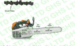 Stihl Ms200T Guide Bars & Chains within Stihl 009 Chainsaw Parts Diagram