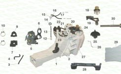 Stihl Ts410 Fuel Tank with regard to Stihl 024 Chainsaw Parts Diagram