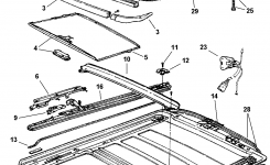 Sunroof, Component Parts For 1998 Jeep Grand Cherokee pertaining to 1998 Jeep Grand Cherokee Parts Diagram