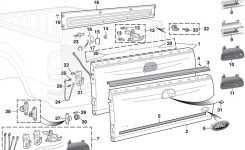 Tailgate And Parts | 1997-03 Ford F150 And 2004 Heritage1997-99 in 1999 Ford Ranger Parts Diagram