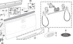 Tailgate Parts | 2004-14 Ford F150 | Lmc Truck for 2007 Ford F150 Parts Diagram