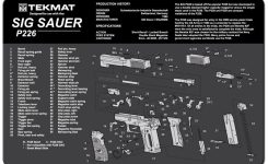 "Tekmat Sig Sauer P226 Cleaning Mat 11"" X 17"" With Parts Schematic regarding Sig Sauer P226 Parts Diagram"