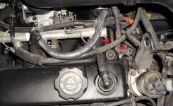 There Is Leaking Coolant From Behind The Engine for 2001 Saturn Sl1 Engine Diagram