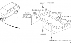 Under Cover & Exhaust Cover For 2001 Subaru Outback within 2001 Subaru Outback Parts Diagram