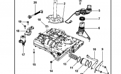 Valve Body & Related Parts For 2008 Chrysler Town & Country within Chrysler Town And Country Parts Diagram