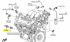 Where Is The Oil Pressure Switch? – Mazda 6 Forums : Mazda 6 Forum within 2003 Mazda 6 Engine Diagram